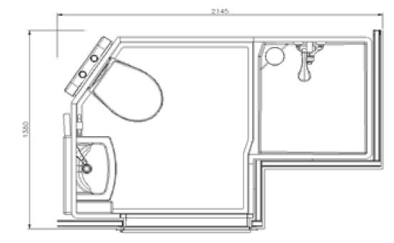 bathroom pod for student accommodation - studio model