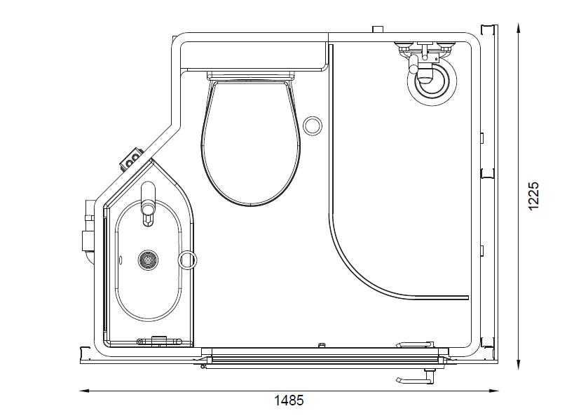 grenat mini bathroom pod