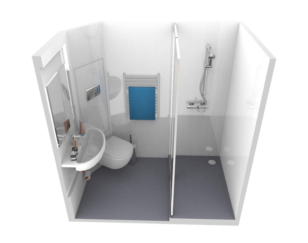 Baudet Uk Student Bathroom Pods Studio Model